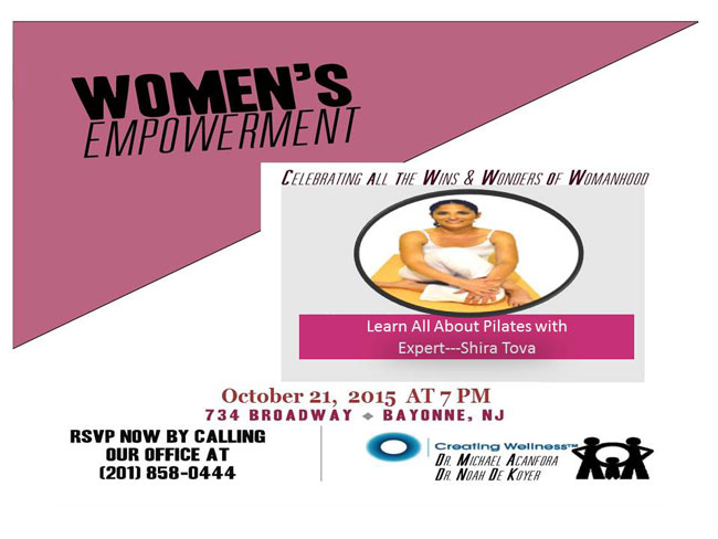 Bayonne Chiropractors Office Women's Empowerment Project